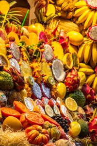 Obst in der Markthalle in Las Palmas