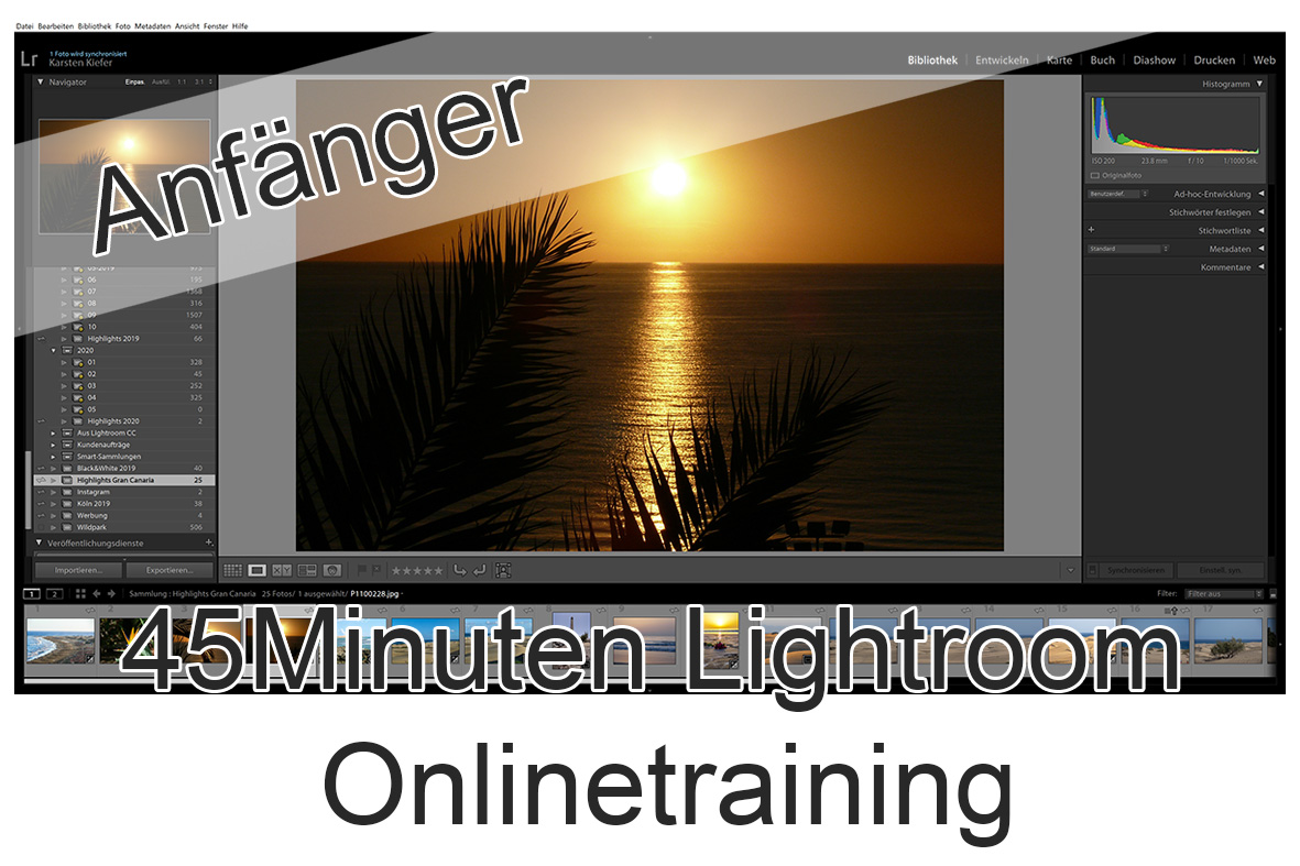 OnlineWorkshop für Lightroom
