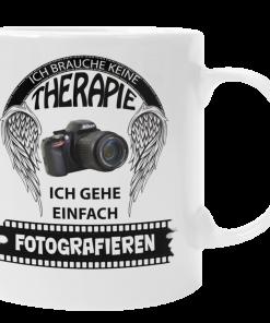 Kaffeebecher Fotograf braucht keine Therapie